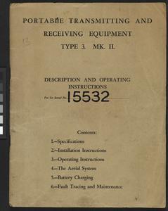 Wireless Equipment, Type 3 Mk II (B2) Suitcase Transceiver: British