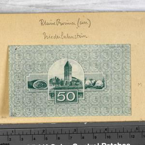 emergency currency, notgeld, 50 pfennig, Germany