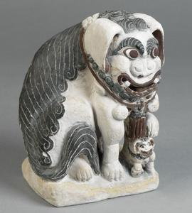 carving, chinese, guardian lioness