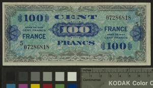 Allied Military Currency, 100 Franc, France