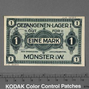 POW currency, lagergeld, 1 mark, Germany