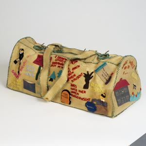 bag, handmade, decorated, internee