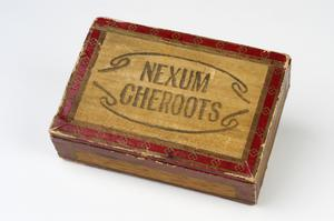 map sections and cigar box