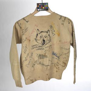 sweater, autographed, Far East Civilian Internee