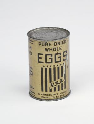 dried eggs, tin: American