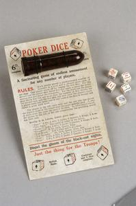 pocket game, British, 'Poker Dice
