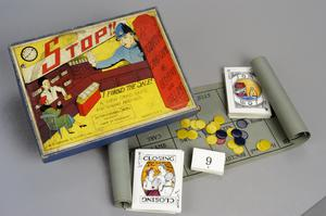 board game, British ('Stop')