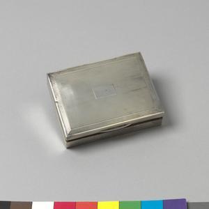 box, cigarette, silver, engraved