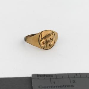 signet ring, souvenir of Ypres
