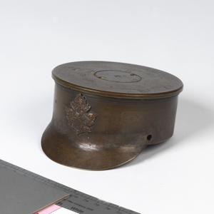 shell case base, 18pdr, made into SD cap, 143 Bn CEF