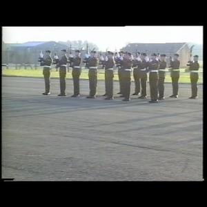 DEPOT THE ULSTER DEFENCE REGIMENT PASSING OUT PARADE RECRUITS COURSE NO 4/91 BALLYKINLER 14 DEC 1991 [Main Title]