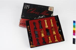 chess set, American Red Cross