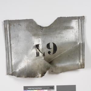 piece of wreckage from Zeppelin L.9