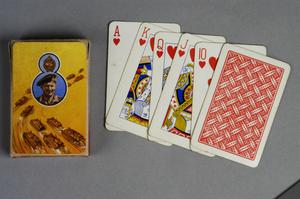 playing cards, British, ('The New Bond Fabric Finish Playing Cards, Rufford All British').