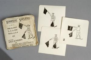 self-instruction cards, British, 'The Semaphore Simplified' training cards