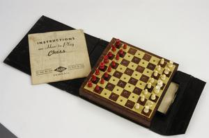 chess set, American ('Bookcase of Games-Chess')
