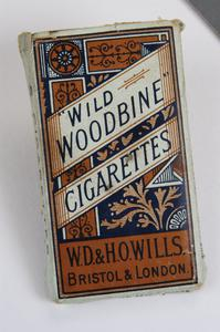 packet of Wills' 'Wild Woodbine' cigarettes