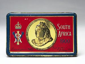 Queen Victoria chocolate tin, South Africa 1900