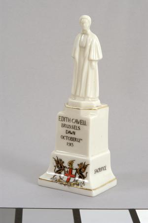 crested china, memorial statue of Edith Cavell
