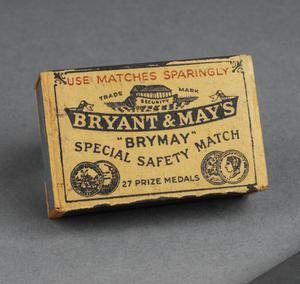 Bryant and May's 'Brymay' Special Safety Match