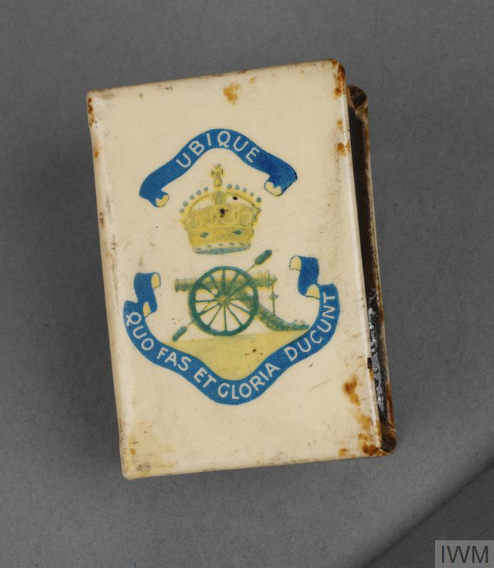 Matchbox cover, British, with matchbox