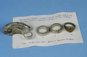 Trench art aluminum ring development set