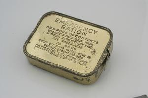 ration pack, 'Emergency Ration', British Army issue