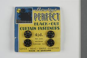 black-out curtain fasteners