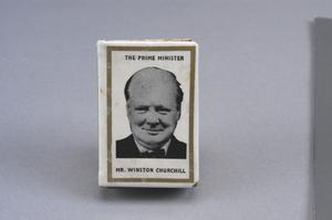 Churchill matchbox cover