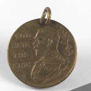 King George V's August 1914 commemorative medallion ('The King's Message')