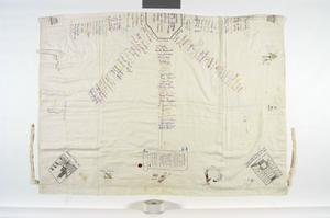 sheet decorated by inmates, Changi prison