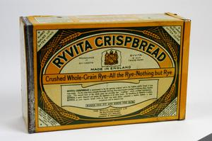 tin of 'Ryvita' Wheatbread, British