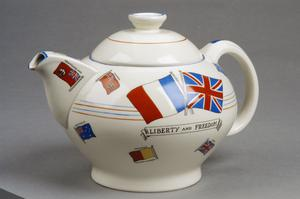 teapot, commemorative, British