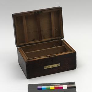 Ditty box, wooden, British, Royal Navy