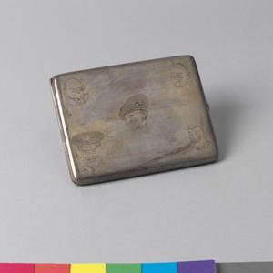 cigarette case, decorated