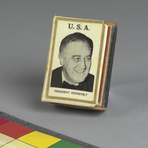 matchbox holder and matches, US