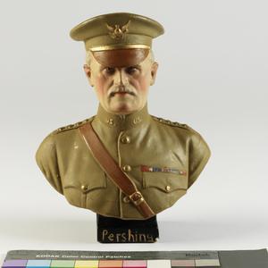 bust, plaster, General Pershing