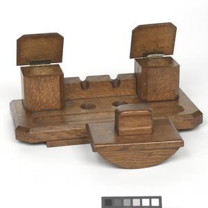 handmade wooden pen tray / desk tidy