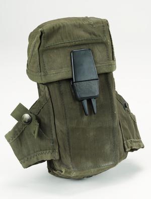 ammunition pouch, 30 round M16 magazines, nylon webbing, ALICE system
