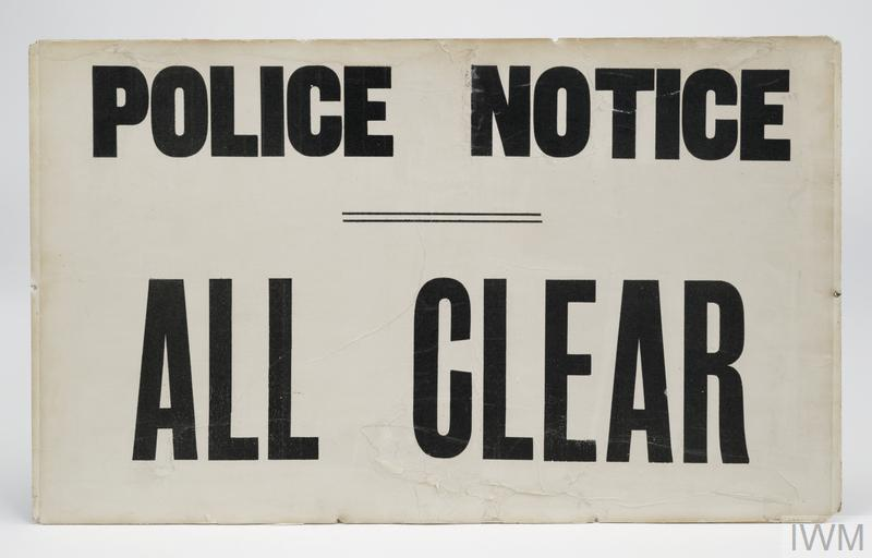 warning sign, Air Raid, all clear/warning (FEQ 175)