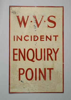 location sign, WVS Incident Enquiry Point