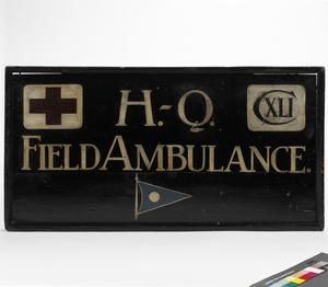 unit sign, British, 141st Field Ambulance Royal Army Medical Corps, 1st Division