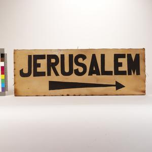 direction sign, Jerusalem