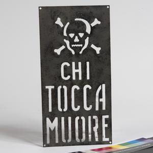 minefield warning sign (stencil)