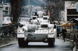 THE BOSNIAN CIVIL WAR:  BRITISH FORCES WITH THE UNITED NATIONS PROTECTION FORCE IN BOSNIA AND CROATIA, 1992 - 1995