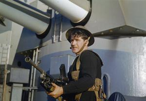 ON BOARD A BATTLESHIP, NOVEMBER 1942