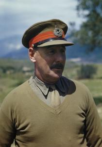 THE COMMANDER OF THE EIGHTH ARMY IN ITALY, LIEUTENANT GENERAL SIR OLIVER LEESE, ITALY, 30 APRIL 1944