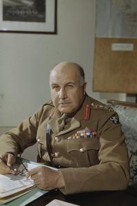 GENERAL SIR HENRY MAITLAND WILSON, THE SUPREME ALLIED COMMANDER, MEDITERRANEAN THEATRE, IN ITALY, 30 APRIL 1944