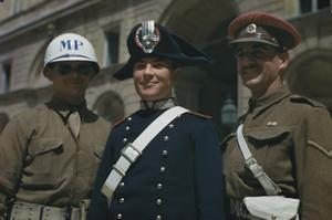 INTERNATIONAL POLICE IN CASERTA, ITALY, 6 MAY 1944