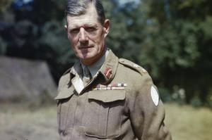 LIEUTENANT GENERAL J T CROCKER, CB, CBE, DSO, MC, COMMANDER OF 1ST CORPS, FRANCE, AUGUST 1944